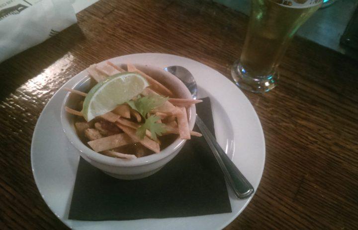 Hatch chile chicken tortilla soup